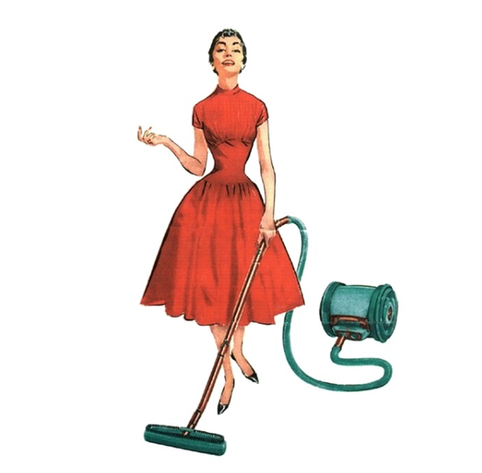 woman vacuum cleaner